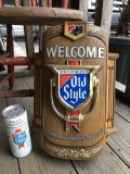 70s Vintage Heileman Old Style Beer Store Display Lighted Sign WELCOM (B678)