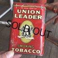 Vintage Union Leader Tabacco Pocket Tin Can (B687)