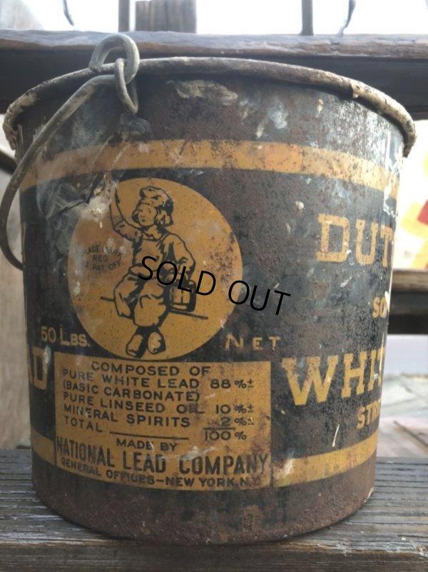 画像2: Vintage Dutch Boy White Lead Paint Bucket Pail (B707)
