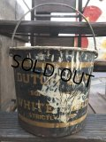Vintage Dutch Boy White Lead Paint Bucket Pail (B707)