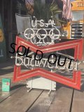 Vintage Budweiser LA Olympic x Bowtie Store Display Neon Sign (B722)
