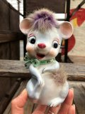 Vintage 50s JAPAN Ceramic Coin Bank Mouse (B738)