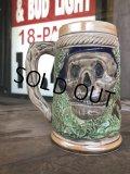 60s Vintage Six Flags Over Texas Skull Ceramic Stein Jug (B753)