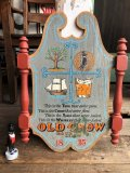 Vintage Old Crow Bourbon Whiskey Wooden Plaque Sign (B756)