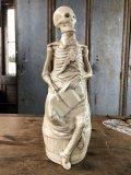 Vintage Skull Porcelain Decanter Bottle (B760)