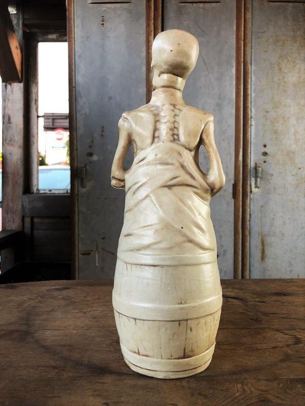 画像2: Vintage Skull Porcelain Decanter Bottle (B760)