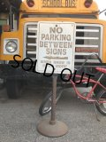 Vintage U.S.A Original NO PARKING Stand Sign (B761)