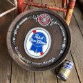 Vintage Pabst Blue Ribbon Beer Store Display Barrel Sign (B766)