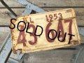 50s Vintage American License Number Plate 1953 43 647 (B799)