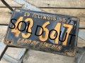 50s Vintage American License Number Plate 1955 43 647 (B805)