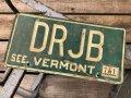 Vintage American License Number Plate DRJB (B774)