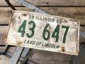 60s Vintage American License Number Plate 1965 43 647 (B794)
