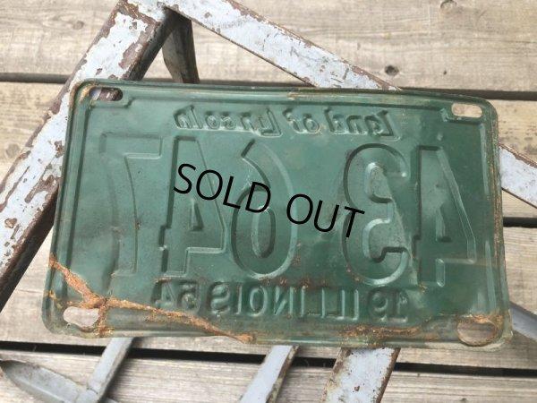 画像2: 50s Vintage American License Number Plate 1954 43 647 (B803)