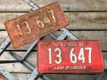 60s Vintage American License Number Plate 1961 13 647 (B814)