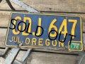 Vintage American License Number Plate GDJ 647 (B780)