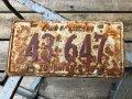 50s Vintage American License Number Plate 43 647 (B789)