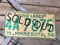 50s Vintage American License Number Plate 4A 7875 (B812)