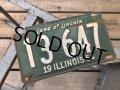 50s Vintage American License Number Plate 1954 13 647 (B807)