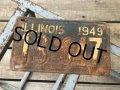 40s Vintage American License Number Plate 1949 13 647 (B801)