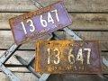 60s Vintage American License Number Plate 1964 13 647 (B816)