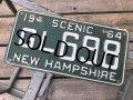 60s Vintage American License Number Plate GL 698 (B785)