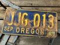Vintage American License Number Plate JJG 013 (B777)
