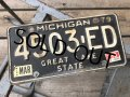 Vintage American License Number Plate 4503 ED (B781)