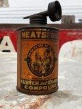 Antique Handy Oiler Lead Top Can NEATSFOOT (B822)