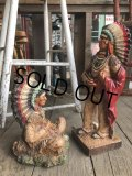 70s Vintage Native American Indian Statue 40cm (B824)