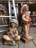 70s Vintage Native American Indian Statue 24cm (B823)