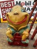 Vintage Carnival Prize Chalkware Humpty Dumpty Coin Bank (B862)