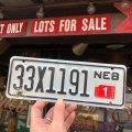 Vintage Motorcycle & Trailer License Plate 33X1191 (B871)