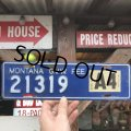 70s Vintage Motorcycle & Trailer License Plate 21319 (B812)