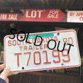 Vintage Motorcycle & Trailer License Plate T70199 (B872)