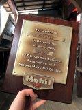 Vintage Mobil Gas Service Station Sales Award Plaque (B827)