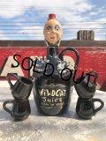 Vintage Creepy Clown Decanter Jug Bottle Set (B832)