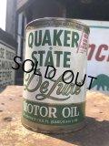 Vintage QUAKER STATE Quart Oil can (B845)