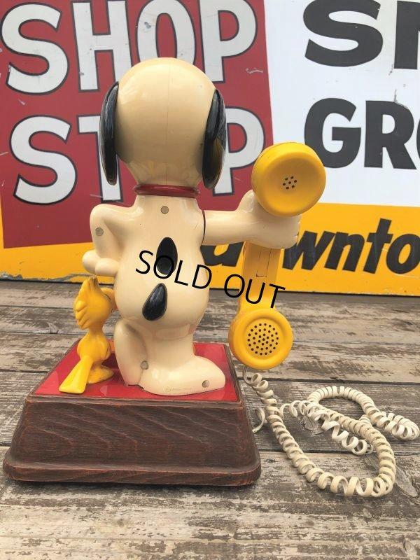 画像2: 70s Vintage Telephone Snoopy (B913)