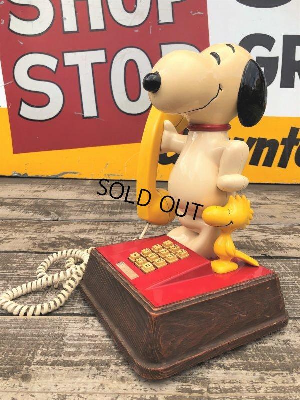 画像1: 70s Vintage Telephone Snoopy (B913)