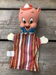 画像10: 60s Vintage Mattel Hand Puppet Porky Pig (B918)