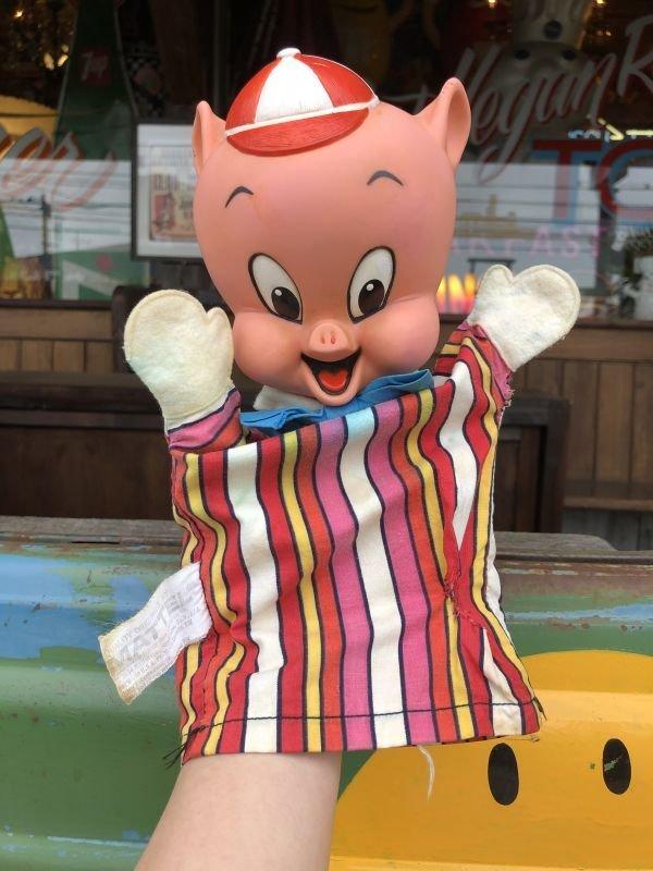 画像1: 60s Vintage Mattel Hand Puppet Porky Pig (B918)