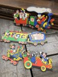 画像1: Vintage Dolly Toy Pin Ups Wall Decor Casey Jr. Circus Train Set (B920) (1)