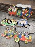 Vintage Dolly Toy Pin Ups Wall Decor Casey Jr. Circus Train Set (B920)
