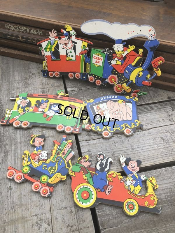 画像1: Vintage Dolly Toy Pin Ups Wall Decor Casey Jr. Circus Train Set (B920)