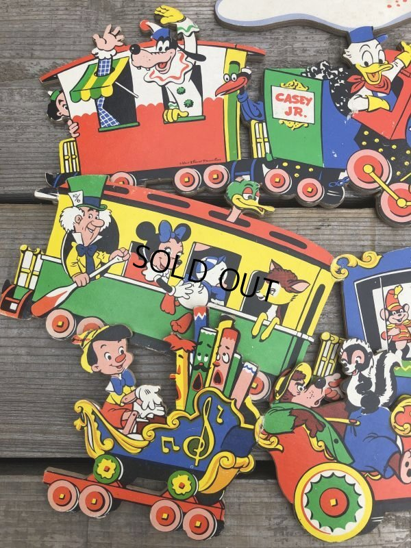 画像2: Vintage Dolly Toy Pin Ups Wall Decor Casey Jr. Circus Train Set (B920)