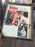 30s Vintage Coca-Cola Advertising W/Frame (B925)