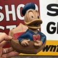 50s Vintage Disney Donald Duck Sun Rubber Soap Dish 15cm (B957)