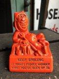 "60s Vintage Message Doll Red Devil ""Keep Smiling, "" (B971)"