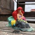 Vintage Disney The Little Mermaid Ariel & Flounder PVC Figure (B998)