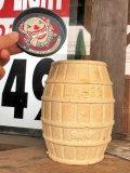 50s Vintage James Candy Advertising Barrel Clown Paper Mache Coin Bank (B796)